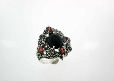 marcasite silver jewelry marvel ring 12
